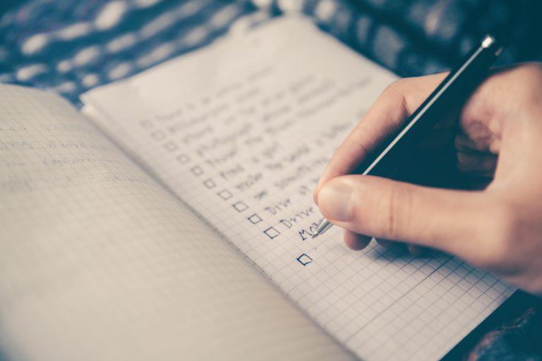La regla 1-3-5 para la lista de tareas.